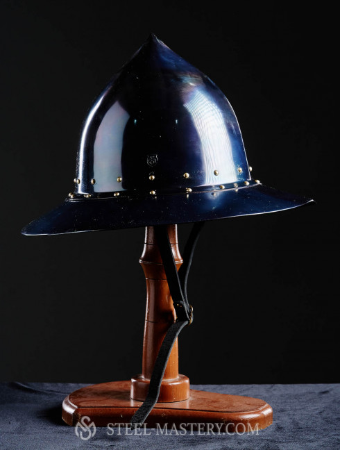 Kettle hat (Kettle helm)  with high top point Helmets