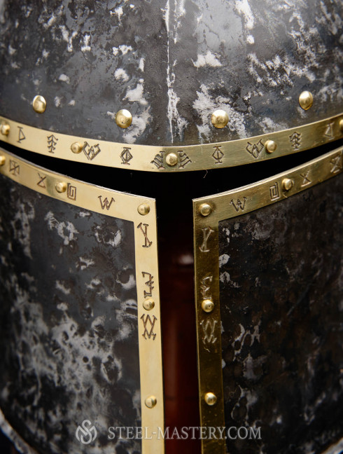 Barbute Helm with narrow T-opening - 1460 year Helmets