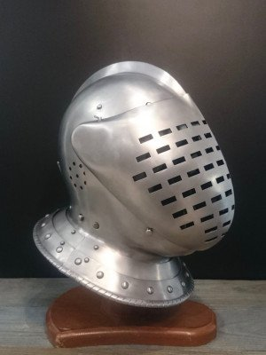 Medieval closed helmet (armet) - 16th century