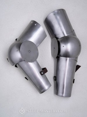 SCA and sport arm protection Metal bracers, couters and full arms