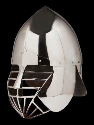 Conical SCA helmet with the grid and full protection of the neck Helmets