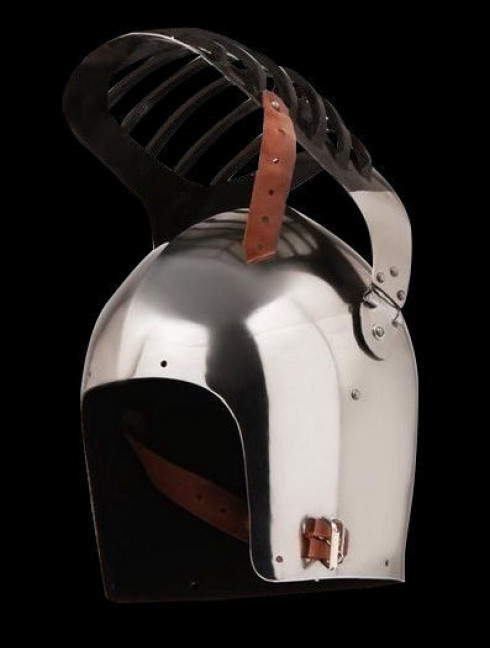 Bascinet with bar grill Helmets