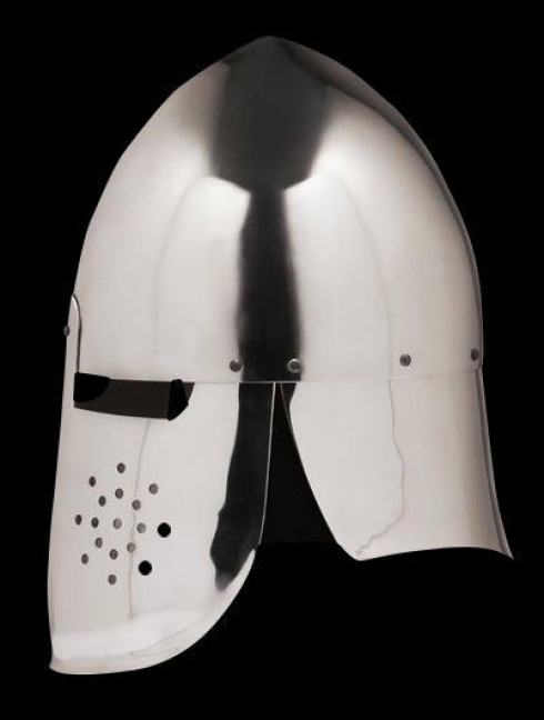 Conical helmet with full protection of the neck Helmets