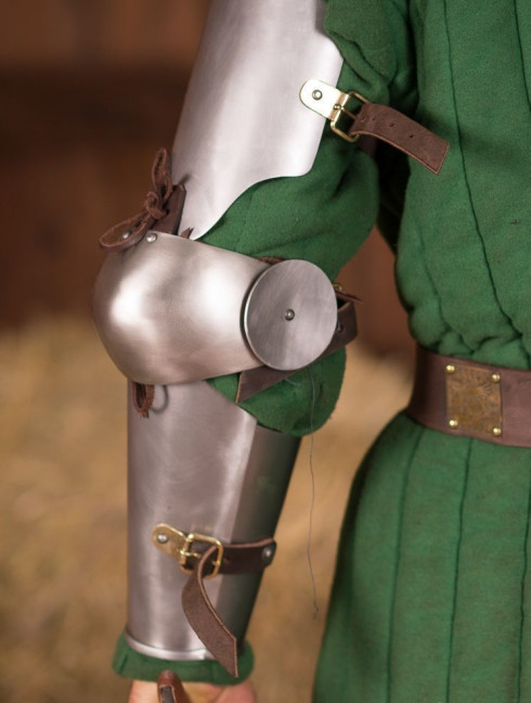 Full arm protection 13-14th century Metal bracers, couters and full arms
