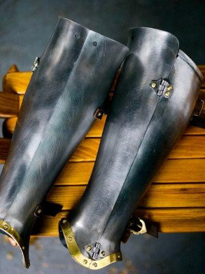 Closed hinged greaves 1450-1485 years