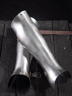 14th - 16th Style Half greaves Metal leg protection