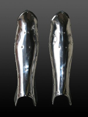 Fantasy style greaves Metal leg protection