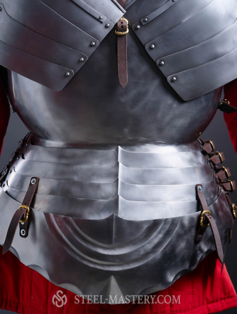 Milanese cuirass with the skirt and tassets - 1460 year Cuirasses, breastplates and gorgets