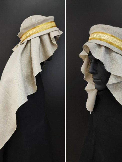 Hair covering with fabric snood Headwear