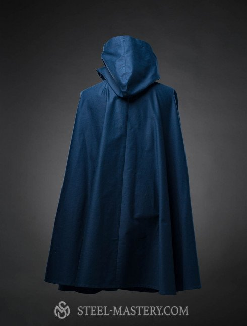 Cloak with hood, a part of fantasy-style costume