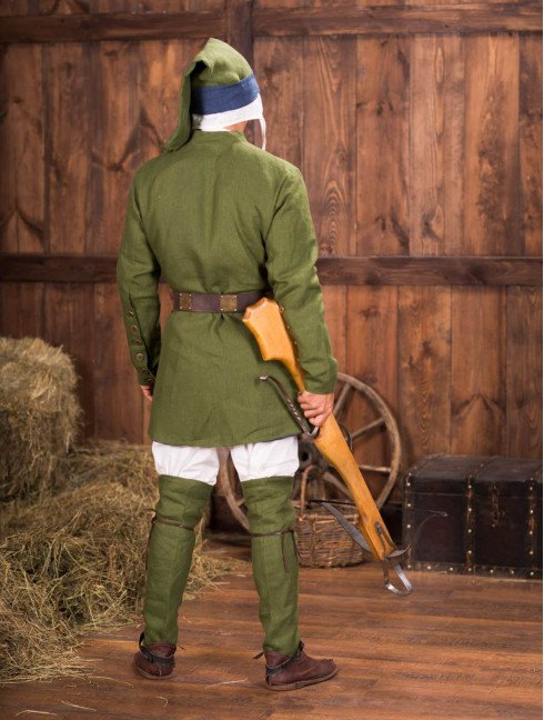 Medieval cotardie with stand-up collar Men's overclothers
