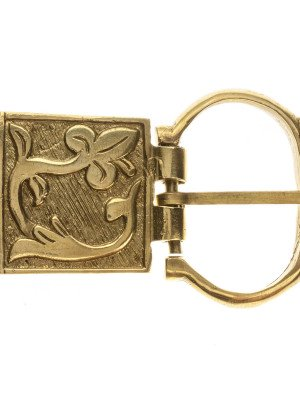 Medieval French custom belt buckle Cast buckles