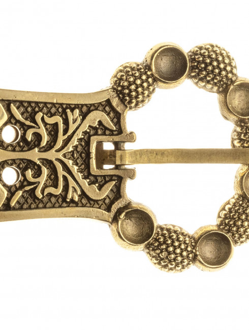 Medieval english custom belt buckle of the late XIVc Cast buckles