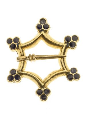 Medieval decorative metal fibula Brooches and fasteners