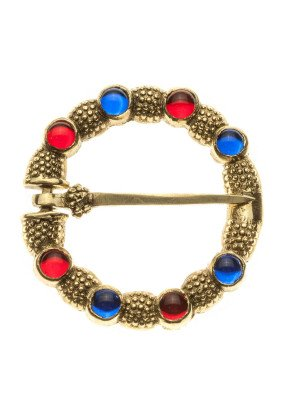 English medieval decorative brooch Brass Brooches and fasteners