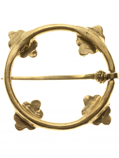 Medieval flower decorated ring fibula Brooches and fasteners