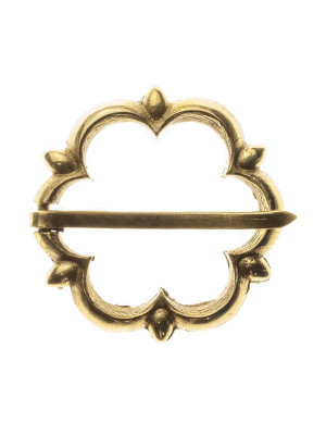 Medieval decorative fibula in flower shape Brooches and fasteners