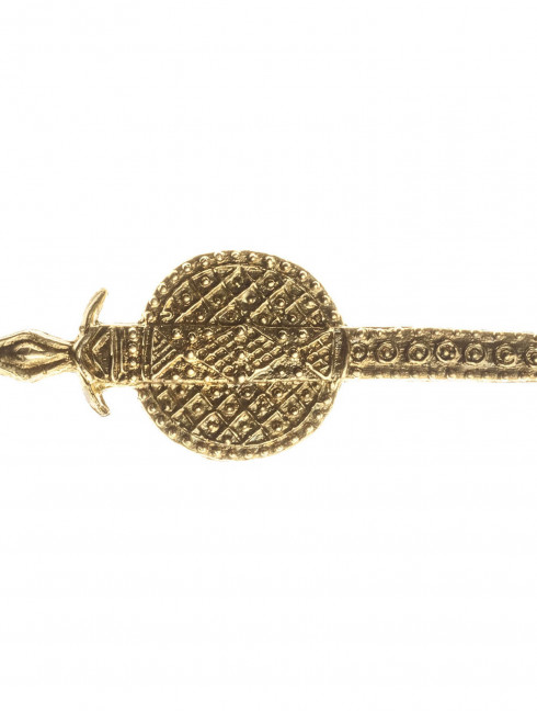 Medieval decorative metal brooch Sword Brooches and fasteners