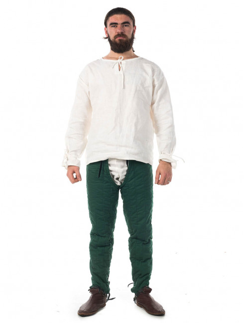 Medieval gambeson with long padded chausses (Cotton set) Padded armour sets