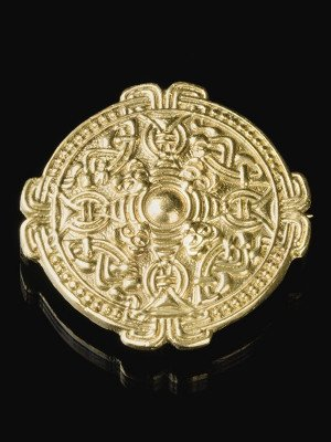 Custom decorative viking disc brooch Brooches and fasteners