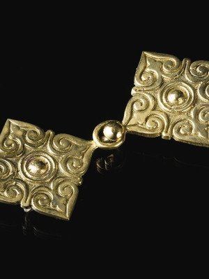 Decorative caftan fastener, X century Brooches and fasteners