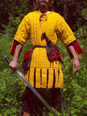 Gambeson with festoons
