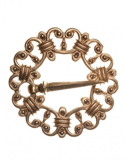 Medieval round Sweden brooch, XIV-XV centuries Brooches and fasteners