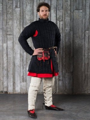 Closed-front gambeson - 1 layer padded armour