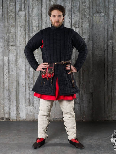 Closed-front gambeson - 3 layer padded armour Ready padded armour