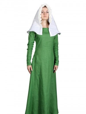 Green linen underdress of the 14th century