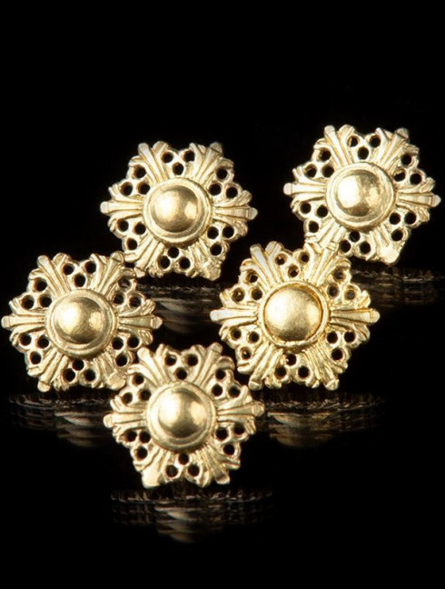 Medieval Swedish button of 17 mm Buttons, hooks, pins