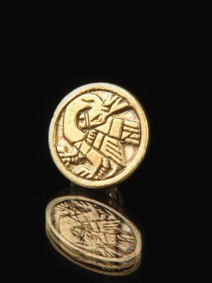 Medieval button with gryphon pattern, XIII-XV centuries Buttons, hooks, pins