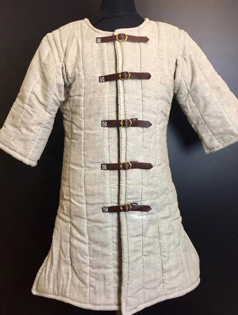 Gambeson VI-XIII century, uncoloured linen Ready to ship