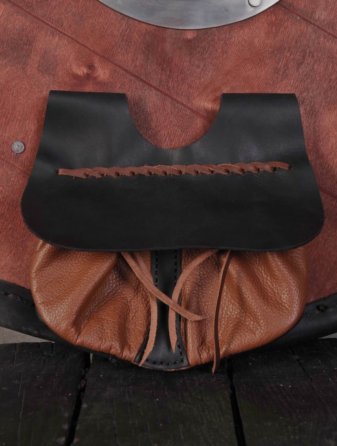 Brown leather belt pouch Bags