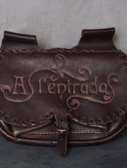 Leather bag with embossed lettering Bags
