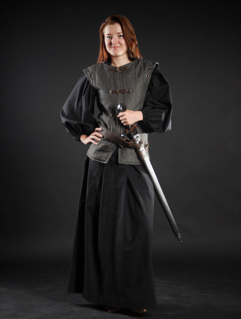 Doublet vest in Renaissance style Ready padded armour
