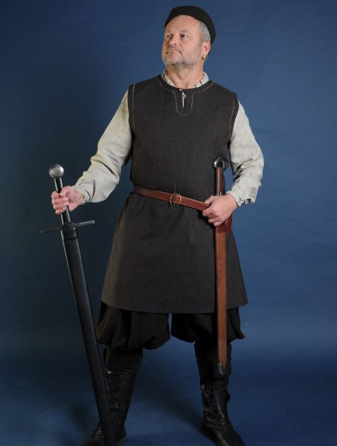 Medieval tunic of IX-XII centuries  with button Ready to ship
