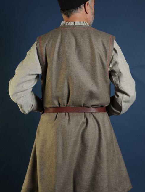Woolen uncolored  medieval tunic of IX-XII centuries   Ready to ship