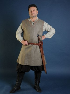 Woolen uncolored  medieval tunic of IX-XII centuries