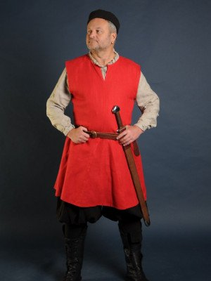 Linen medieval tunic of IX-XII centuries Ready to ship
