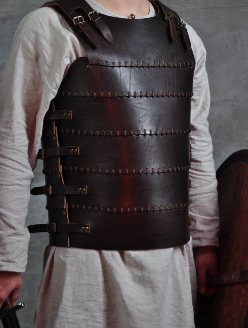 Cuirass, part of Leather armor costume in style of Bëor the Old Body