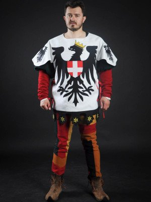 Tabard with black eagle with crown