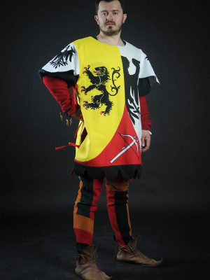 Tabard with lion, crossbow and half-eagle