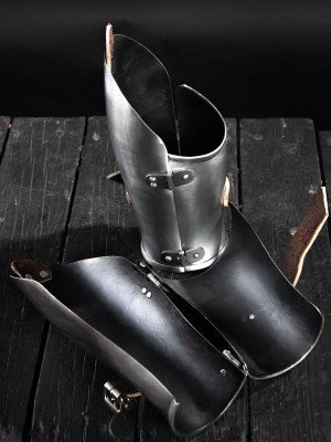 Medieval bracers, 1390-1430 years Metal bracers, couters and full arms