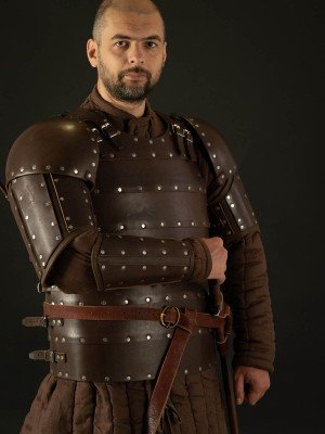 Leather brigandine kit in style of 14th century armor