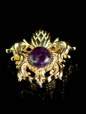 Medieval brooch with amethyst, XV century Brooches and fasteners