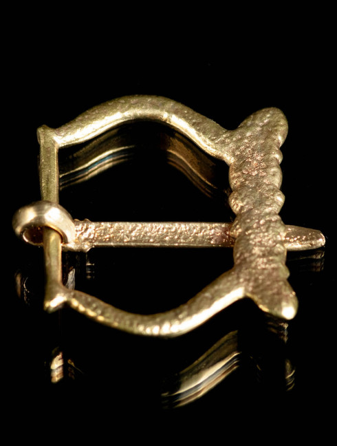 Medieval bronze buckle of the 1200-1460 years Cast buckles