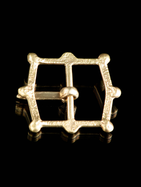 Medieval cast buckle with knops, XIV-XVI centuries Cast buckles
