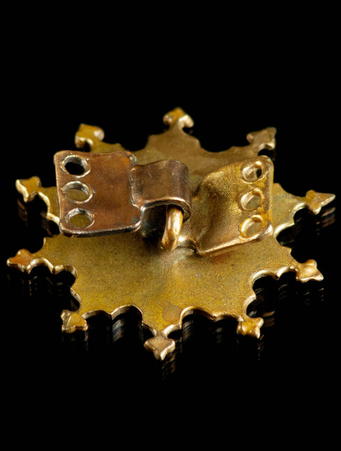 Medieval enameled fastener, XIII-XV centuries Brooches and fasteners