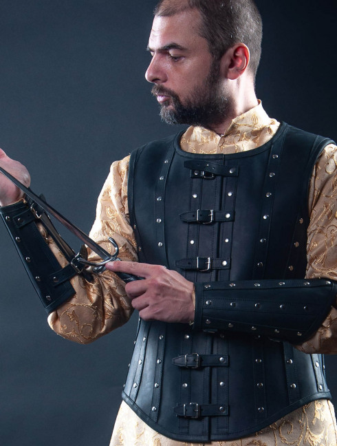 Leather bracers in Renaissance style Plate armor